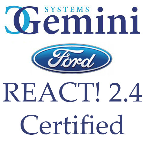 Gemini Systems achieves REACT! 2.4 Certification